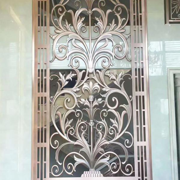 雕花玻璃门