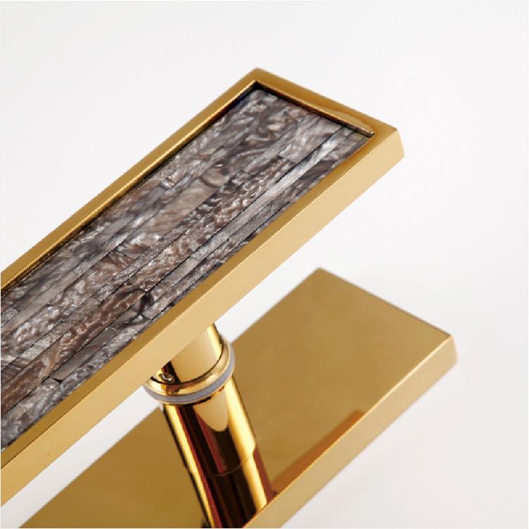拉丝钛金不锈钢框碟贝拉手