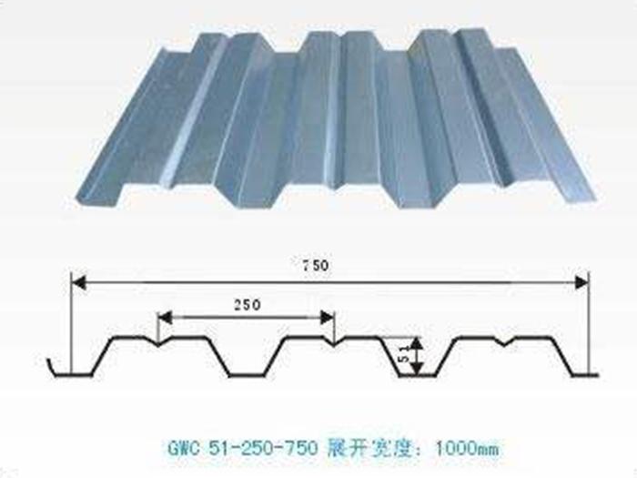 YX51-250-750型镀锌压型楼承板
