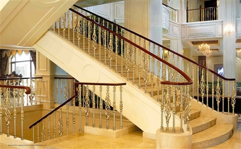 铜楼梯护栏安装