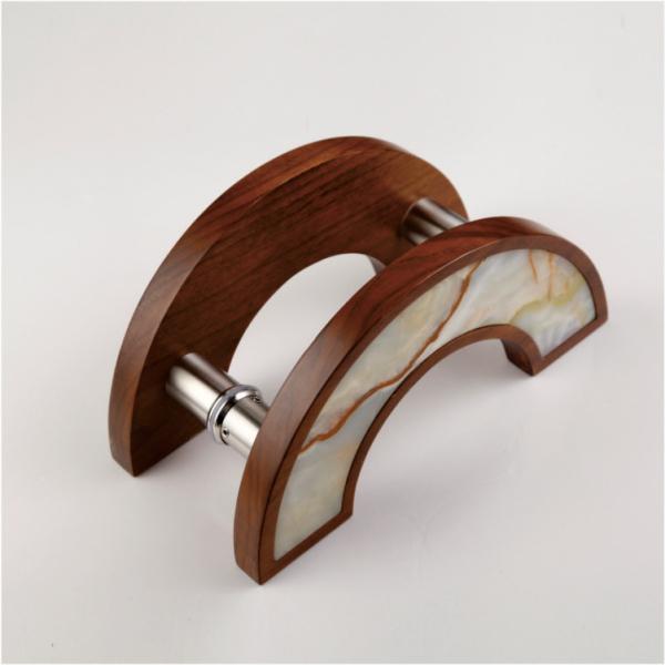 实心木框大理石纹拉手
