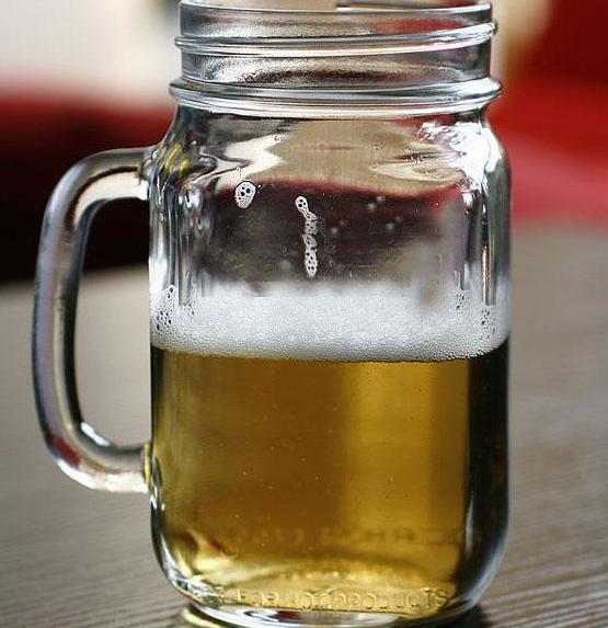公鸡杯玻璃杯350ml把子杯奶茶杯牛奶杯带盖果汁杯泡茶瓶