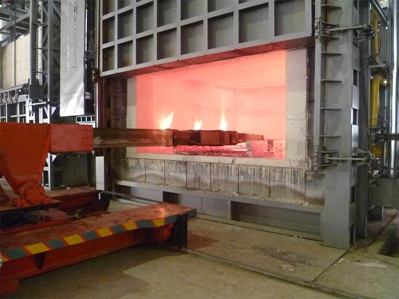 台车式燃气加热炉