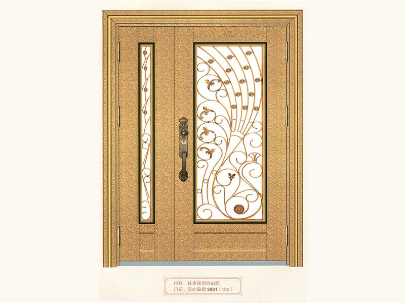 铜艺楼梯立柱加工 广东好用的钛金线条纹大门批销