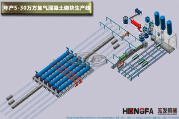 年产5-30万立方米加气块生产线设备