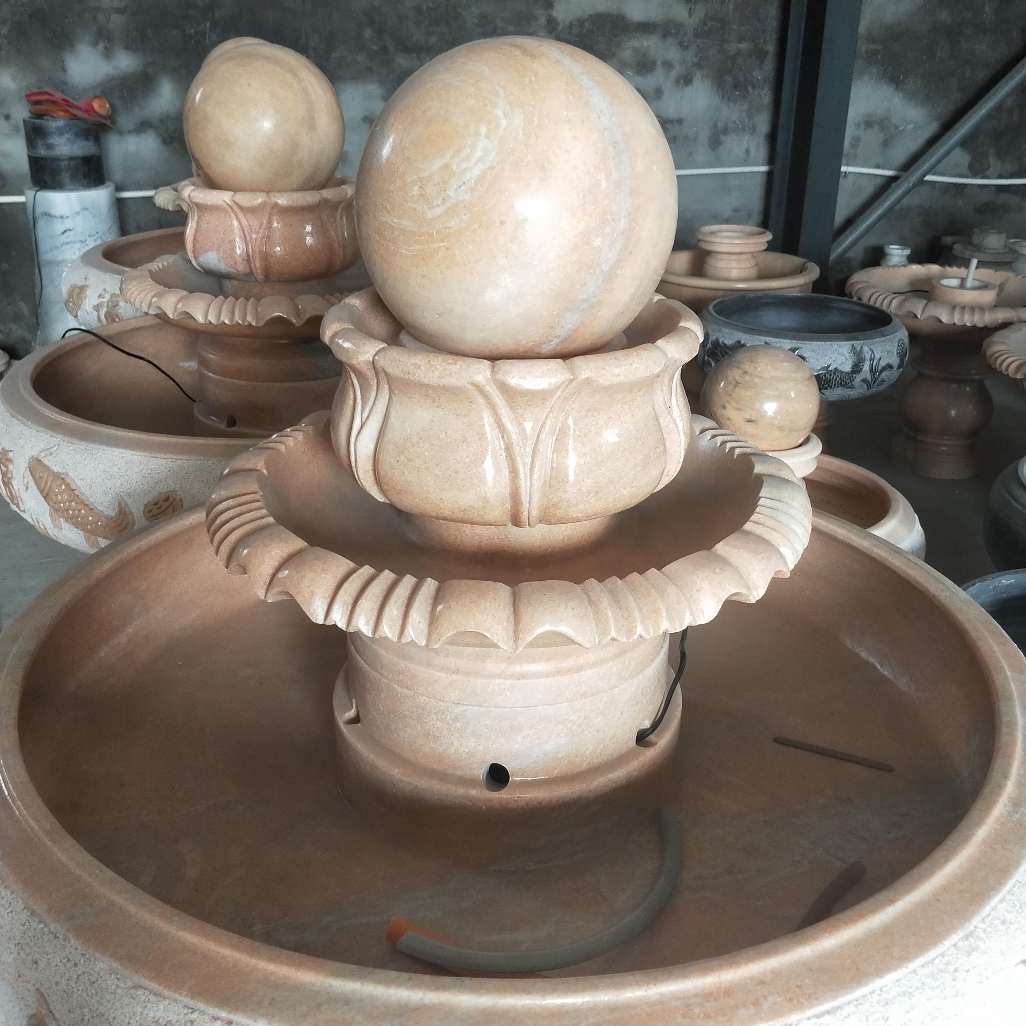 石雕风水球喷泉
