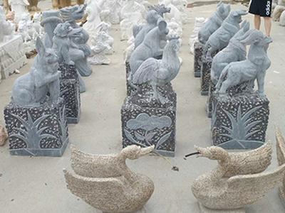 专业的石雕12生肖制作-天津石雕12生肖出售