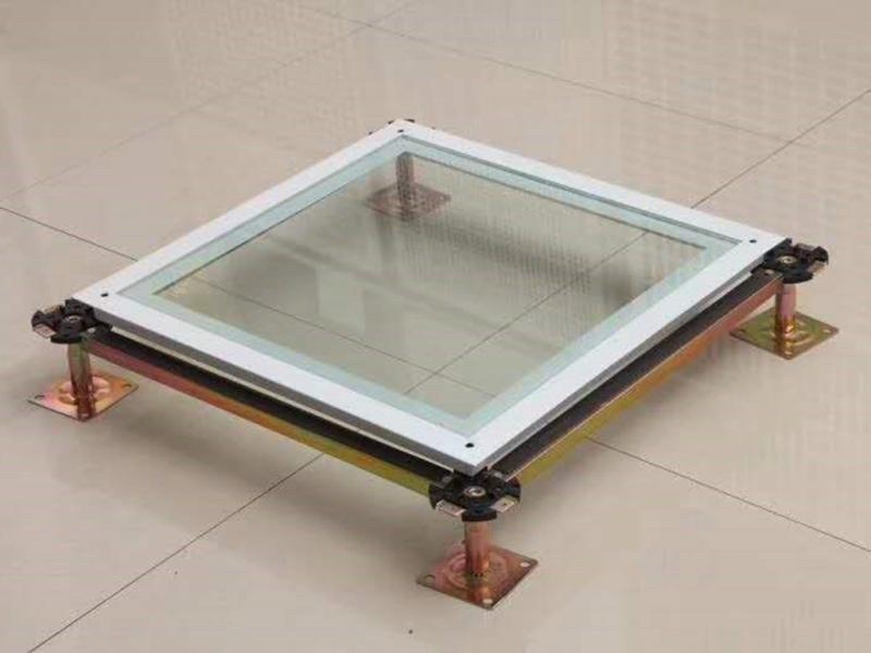 全钢透明玻璃架空地板
