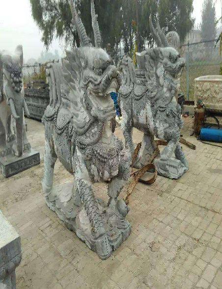 石雕麒麟意义及石雕养护方法