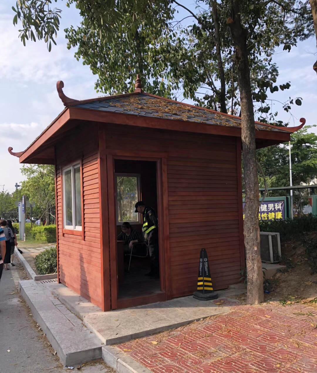 河南木質崗亭廠家 鄭州木質崗亭哪家比較好