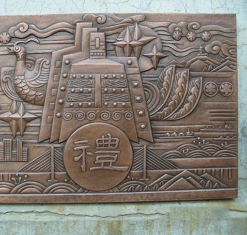 實惠的手工銅雕供銷|順德銅門生產