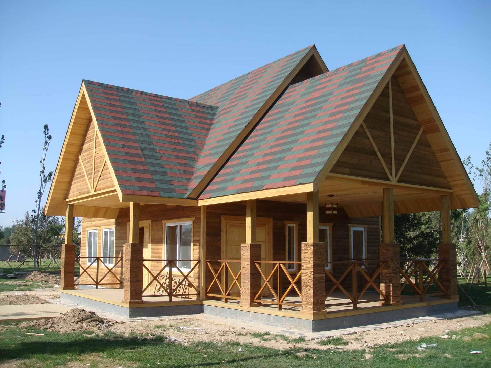 洛陽防腐木別墅 大量出售耐用的防腐木屋