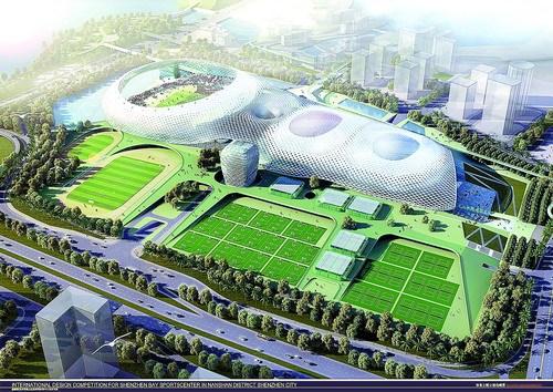 深圳湾体育中心主体钢结构管柱配套项目