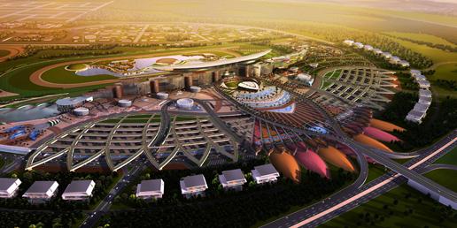 迪拜跑马场主体钢结构管柱配套项目