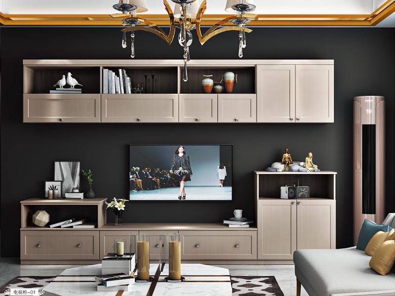 客厅复古实木电视柜