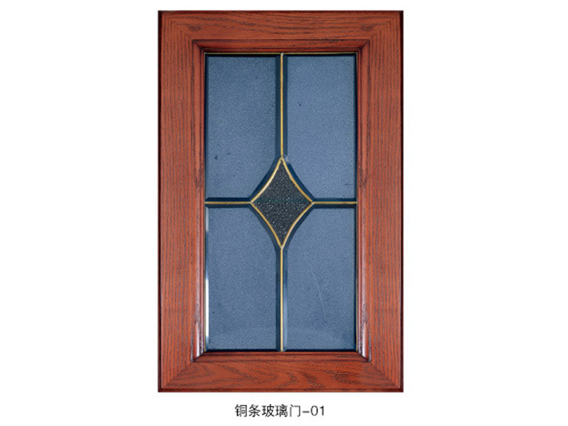 铜条玻璃门1