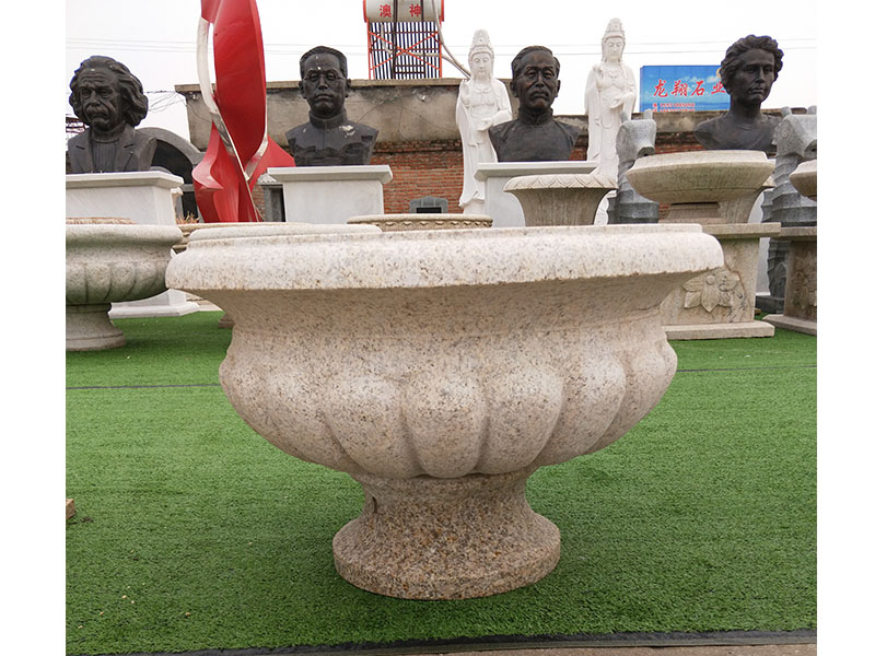 石雕园林绿化景观花盆