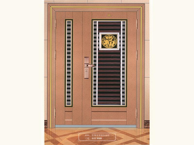 信誉好的红古铜玫瑰金拉丝大门供应商,当属圣匠五金 壁画屏风哪家好