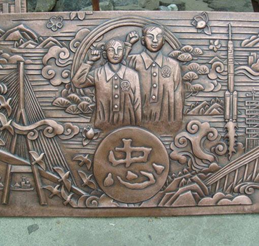 鼎一铜门手工铜雕价格|佛山定制铜背景墙