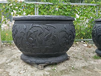 石雕仿古鱼缸