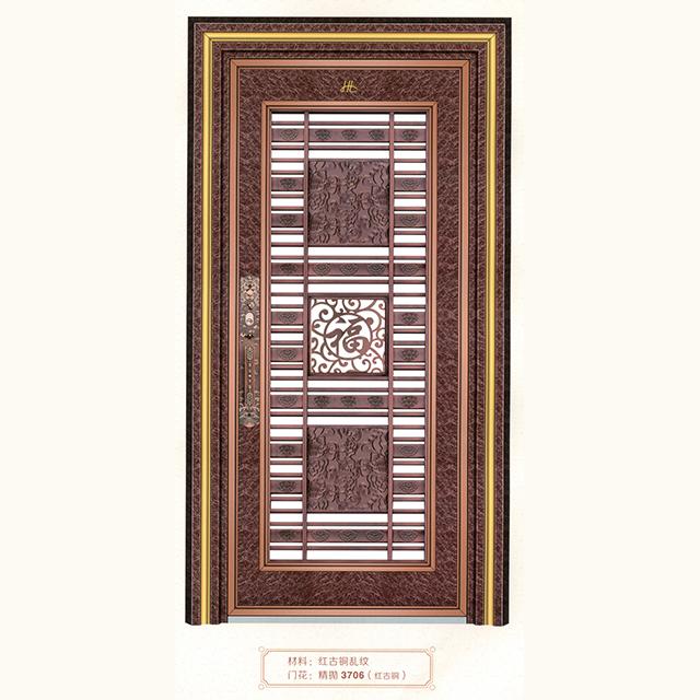 红古铜乱纹中式大门3706