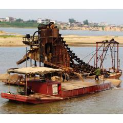 采砂淘金船