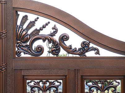 高质量的铜门供应信息-广州定制别墅铜门生产