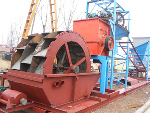 轮式洗砂机设备检查与设备产量降低原因