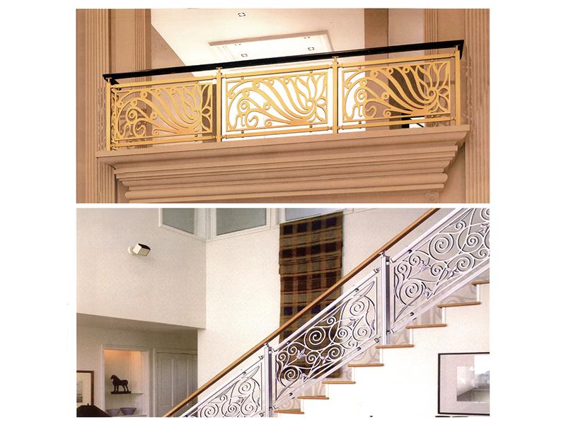 肇庆价格合理的铝造楼梯护栏出售 铝艺楼梯扶手商家