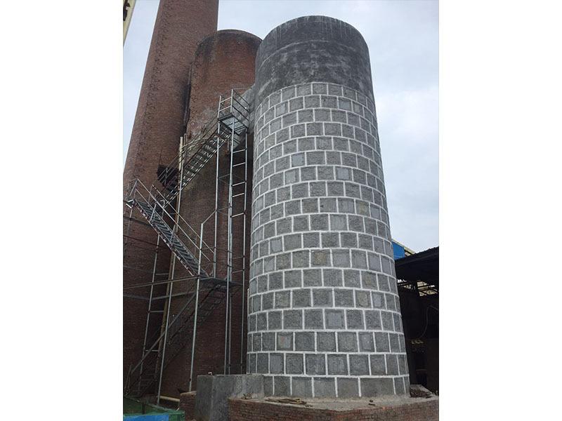 砖厂隧道窑麻石脱硫塔除尘设备一体化工程项目
