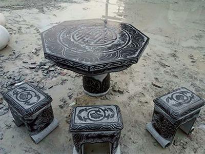 石雕仿古桌子