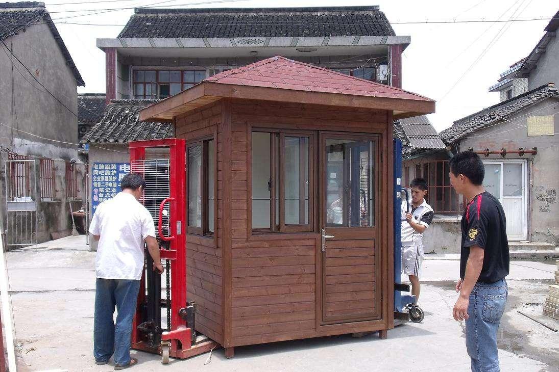 河南聲譽好的木質崗亭供應商_鄭州木質崗亭