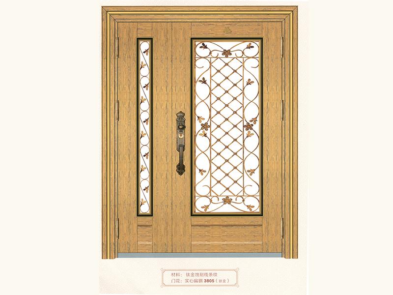 鋁藝樓梯立柱-在哪里能買到好用的鈦金線條紋大門
