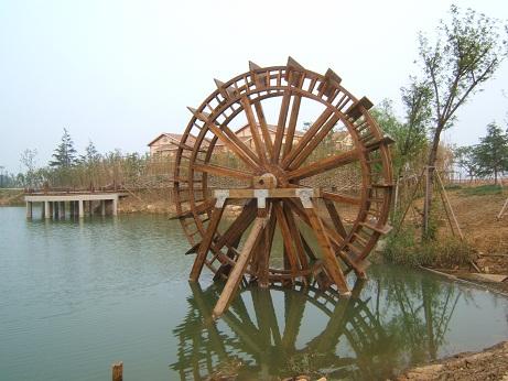 阜陽景觀水車_鄭州豐勝防腐木提供的景觀水車口碑怎麼樣