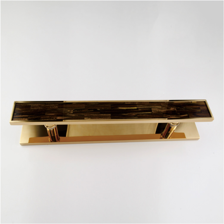 集嘉装饰五金出售钛金不锈钢框黑蝶贝拉手|订制豪华门拉手