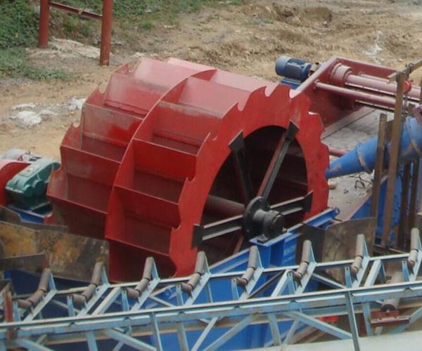 轮斗洗砂机