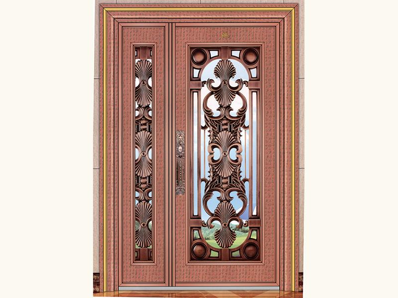 在哪能买到厂家直销的红古铜玫瑰金拉丝大门呢-艺术古典背景墙装修